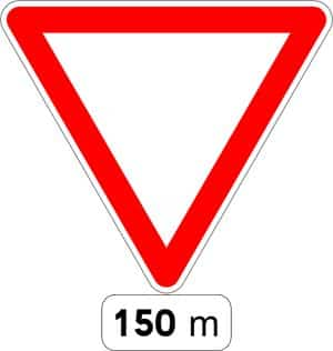 French Roadsign Yield